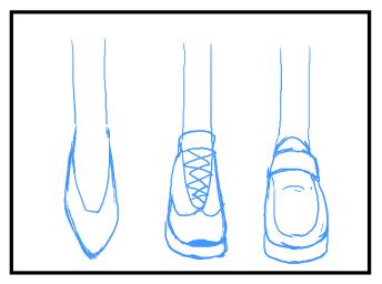 靴の描き方 イラスト Tips